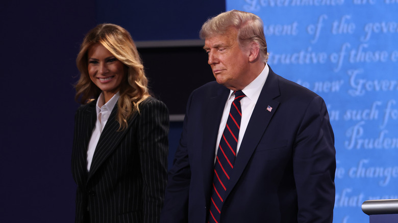 Donald and Melania at the debate