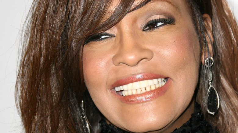 Whitney Houston shortly before her death