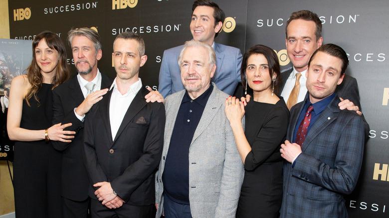 Succession cast at premiere