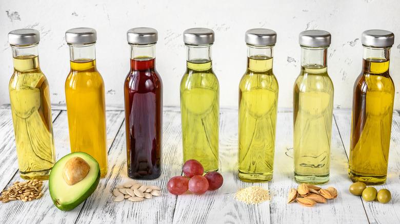 Oils in bottles