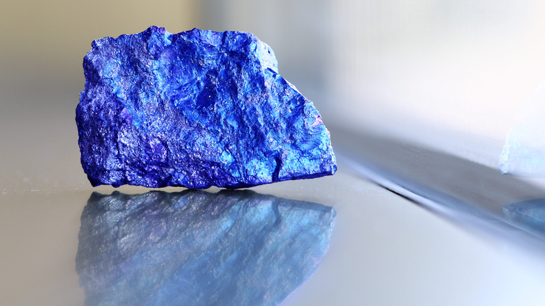 Azurite crystal with a blend of malachite