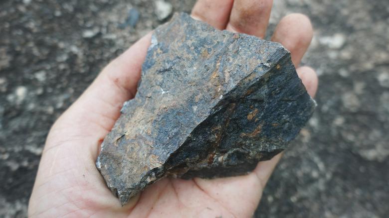 A chunk of natural hematite