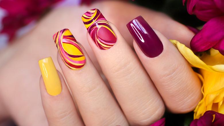Gel nail extensions