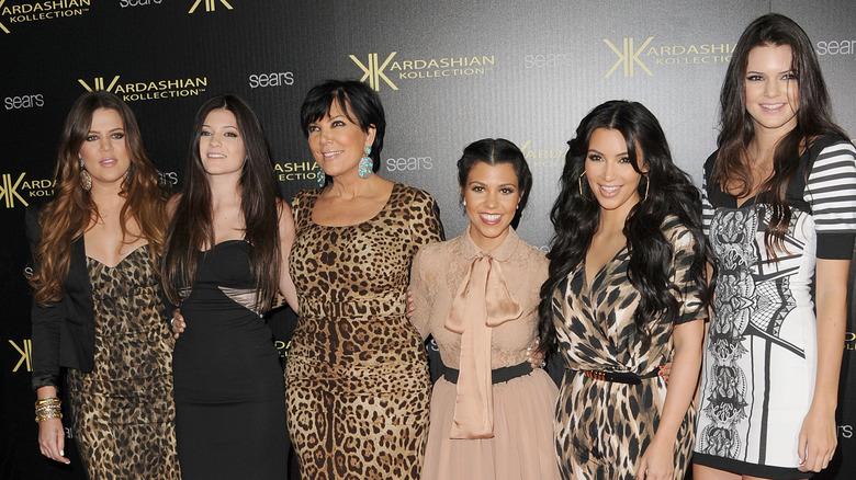 The Kardashian family attending an event