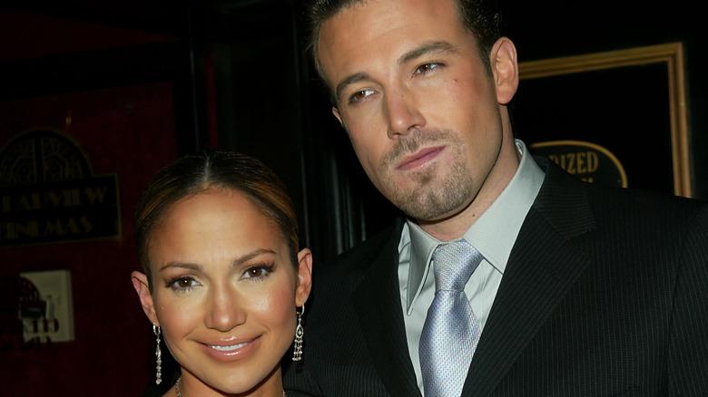 Jennifer Lopez and Ben Affleck on the red carpet
