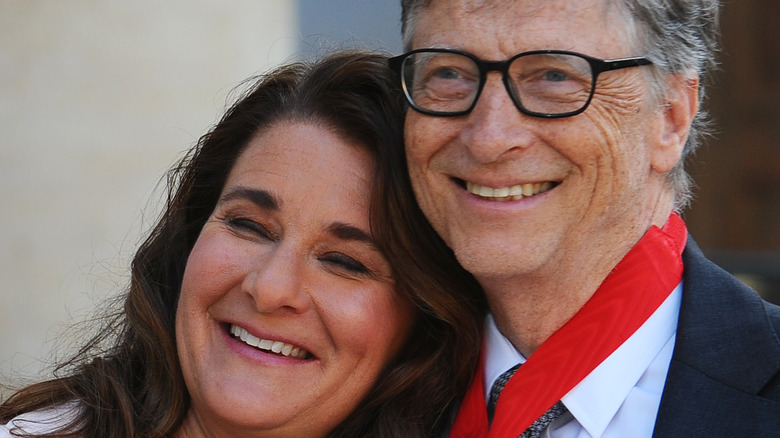 Bill and Melinda Gates posed together