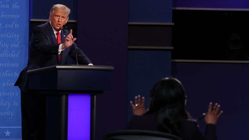 Donald Trump at final presidential debate