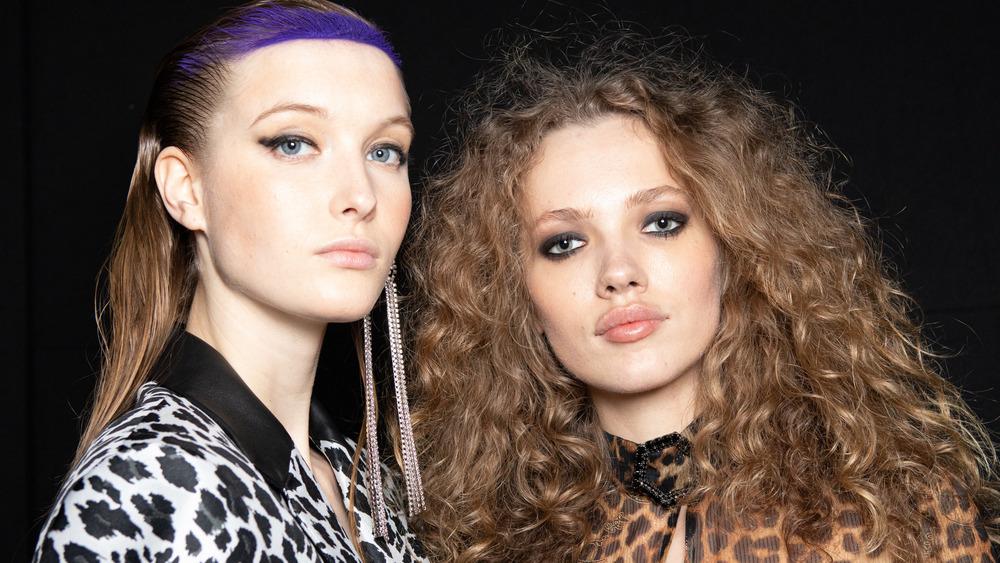 Models in eyeliner