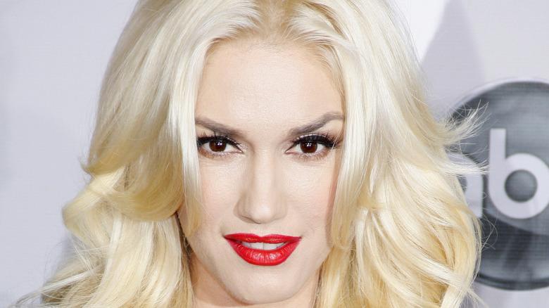 Gwen Stefani with bleach blonde hair