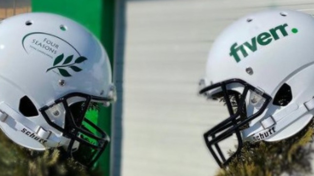 Four seasons total landscaping football helmets