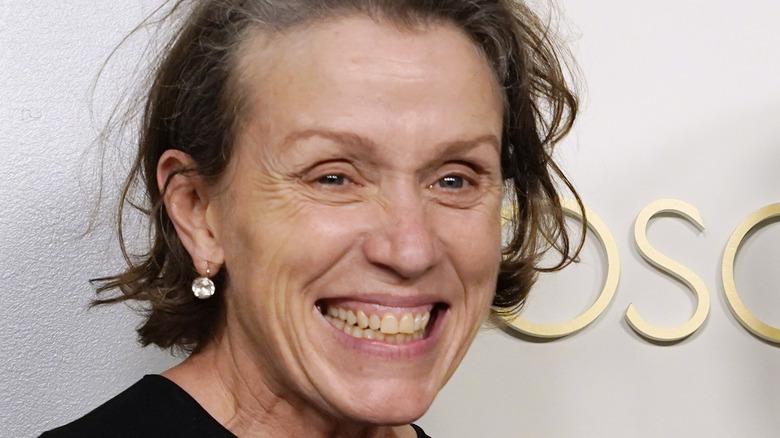 Frances McDormand smiling big