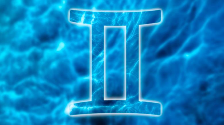 Gemini symbol blue