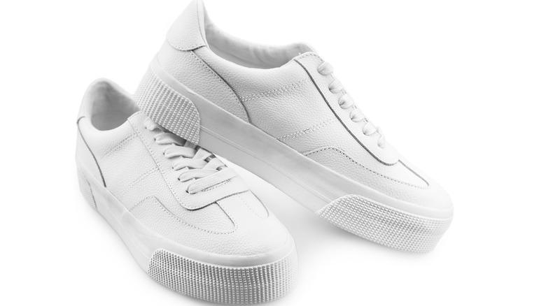 Chunky white sneakers