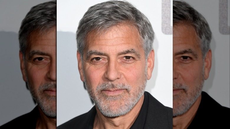 George Clooney wearing black at an event