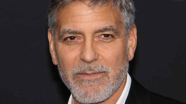 George Clooney posing