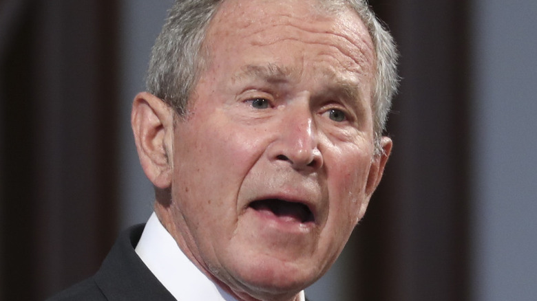 George W. Bush speaking