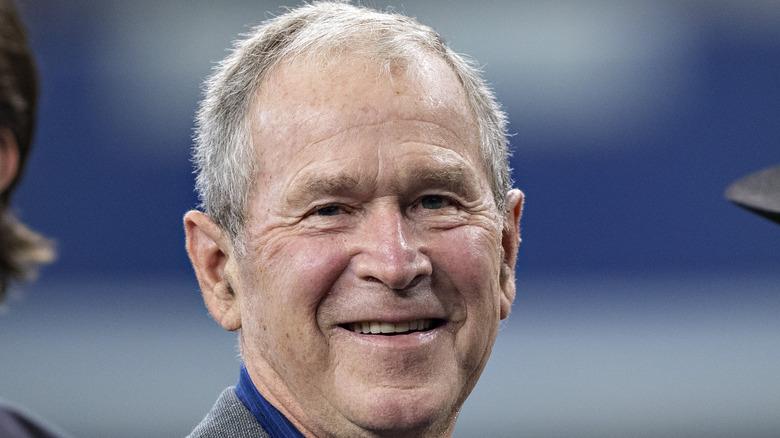 George W. Bush smiling
