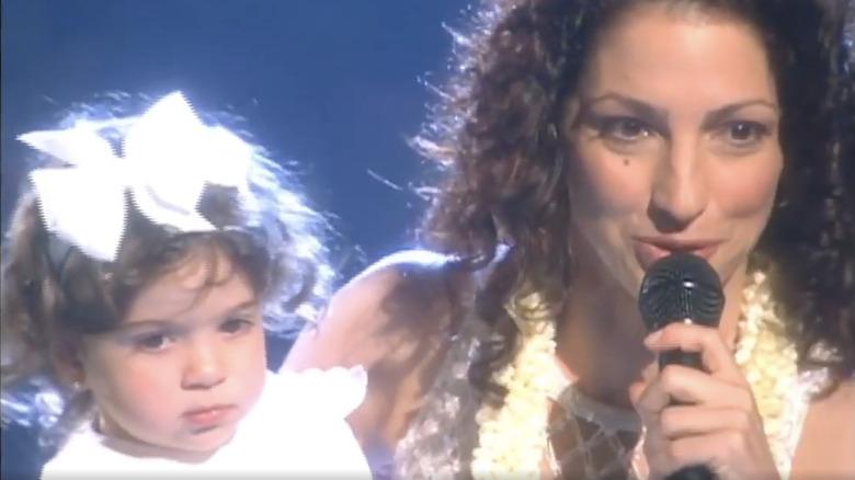 Gloria Estefan holding baby Emily Estefan