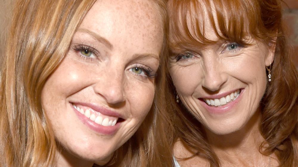 Mina Starsiak Hawk, Karen E. Laine smiling