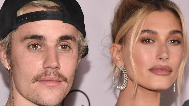 Hailey and Justin Bieber pose together