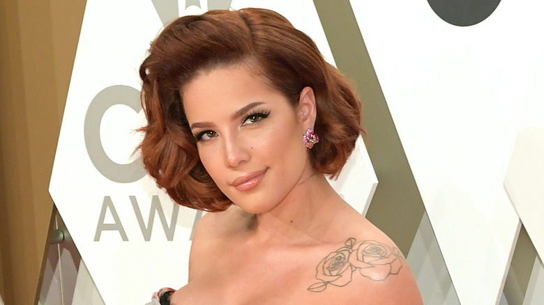 Halsey showing a 2020 hair color