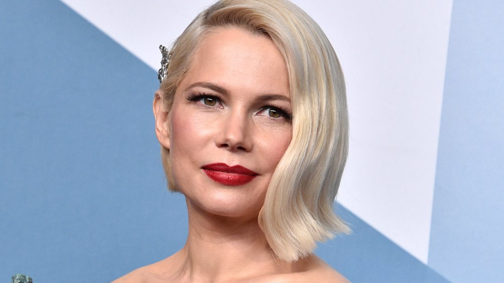 Michelle Wiliams' flared bob, a haircut you'll be asking for in spring 2020