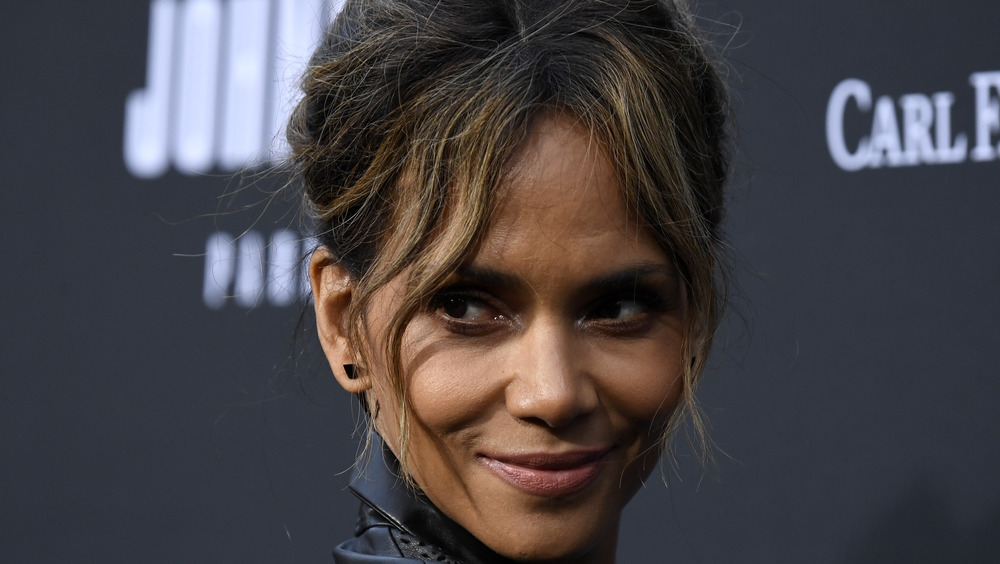 Halle Berry looking off to the side