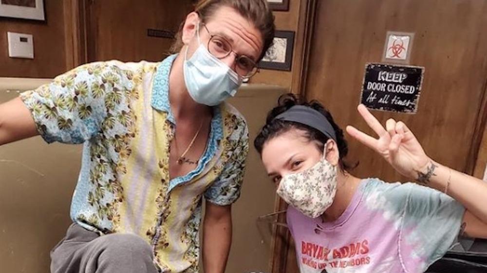 Halsey and Alev Aydin masks