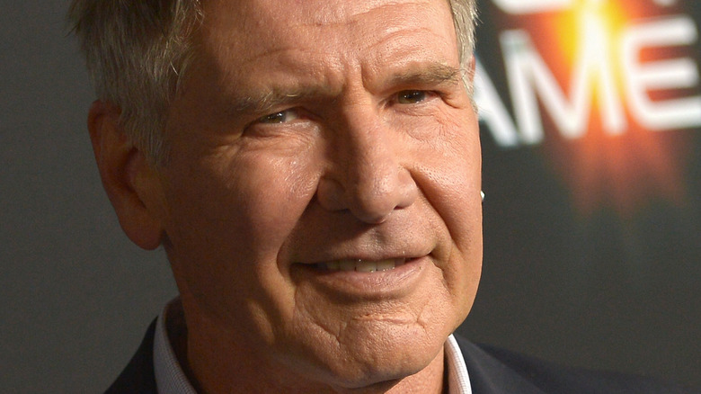 Harrison Ford smiling at an event