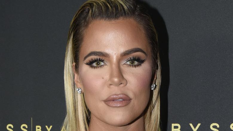 Khloé Kardashian attending an event