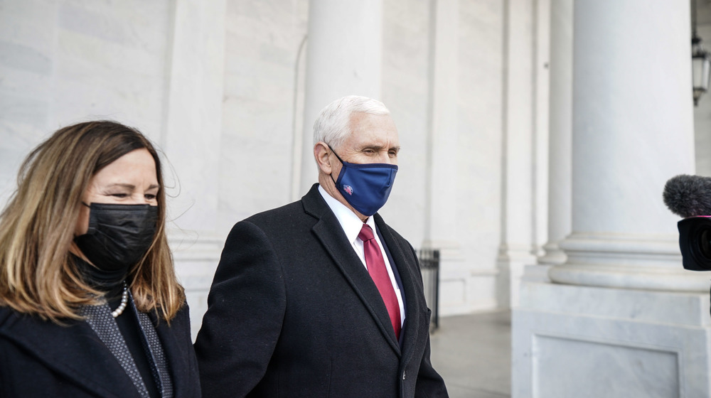 Mike Pence and Karen Pence at Biden's Inauguration