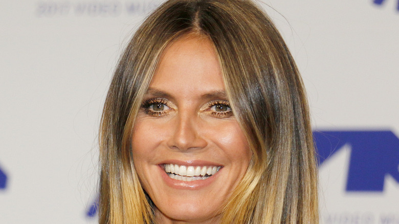 Heidi Klum smiling on red carpet