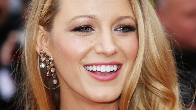 Blake Lively with big smile
