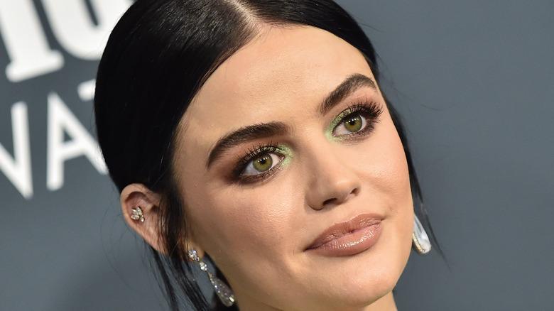 Lucy Hale green eyeshadow