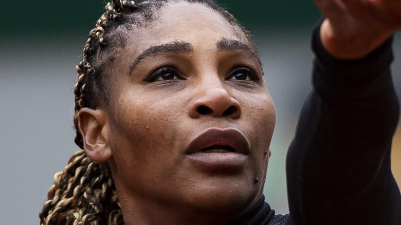 Serena Williams ready to serve