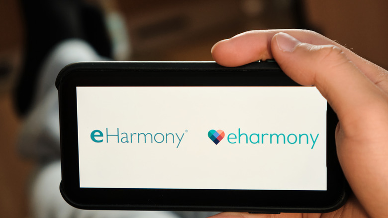 Eharmony logo on phone