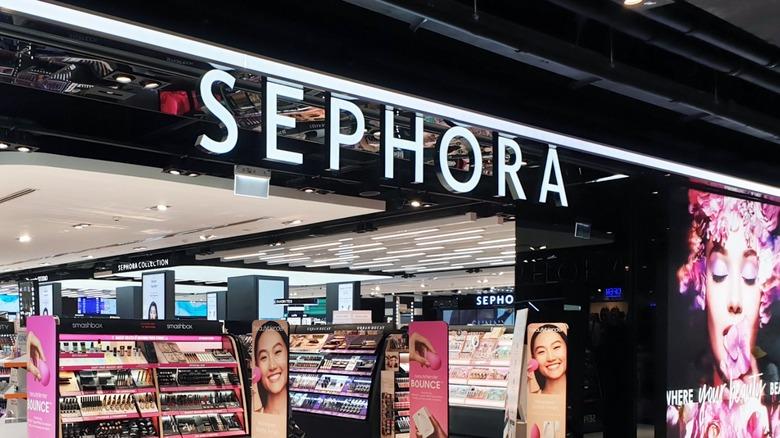 Sephora window storefront