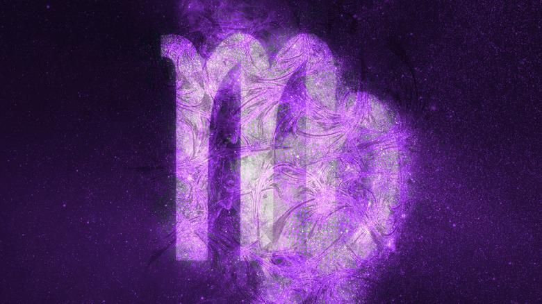 Virgo logo on galaxy background
