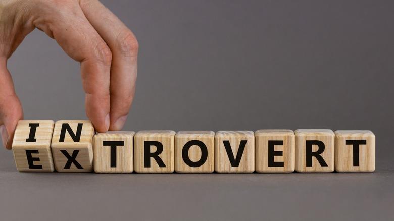 Introvert letter blocks