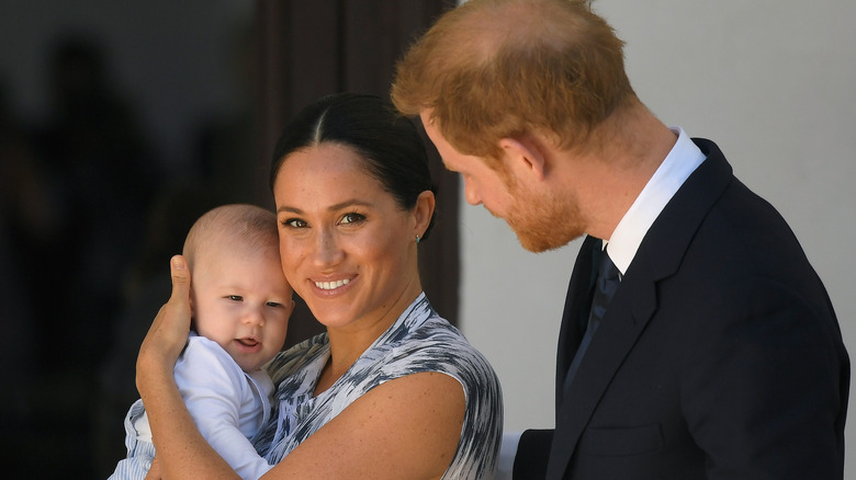 Archie Mountbatten-Windsor, Prince Harry, and Meghan Markle