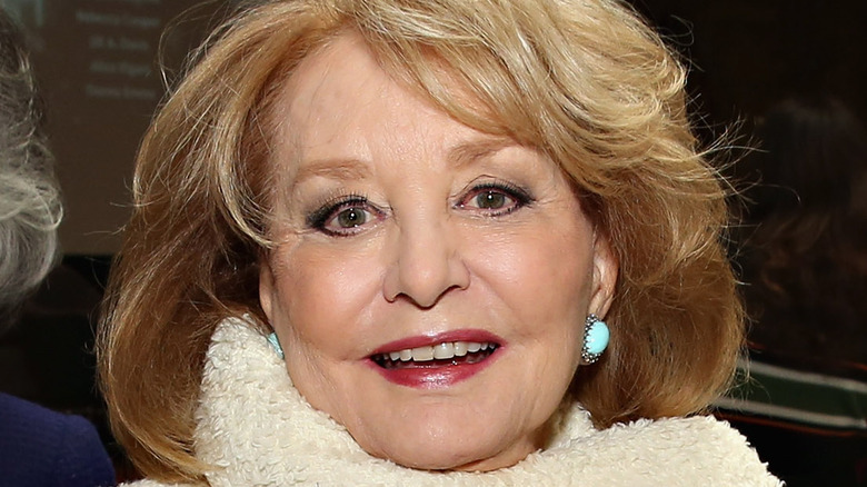 Barbara Walters smiling at New York Public Library Lunch