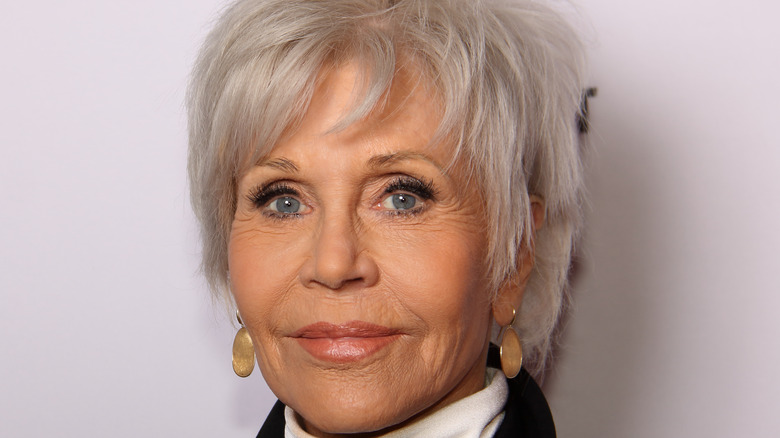 Jane Fonda at a movie premiere