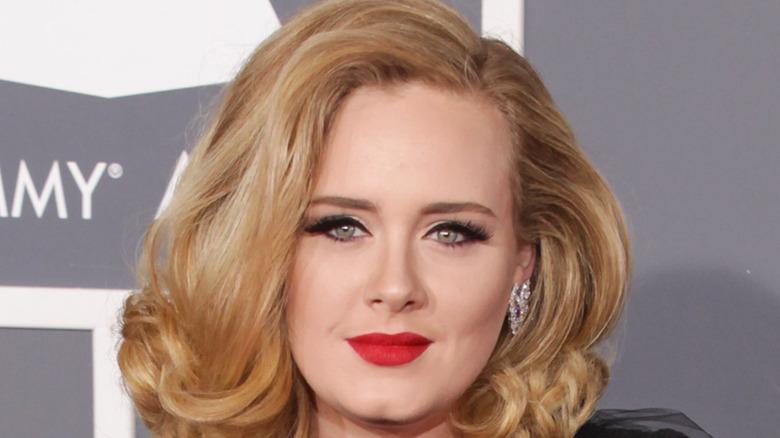 Adele on red carpet