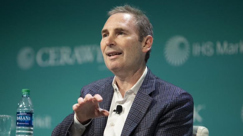 Amazon CEO Andy Jassy talking