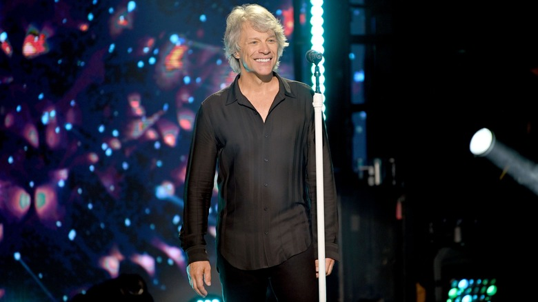 Bon Jovi smiling on stage