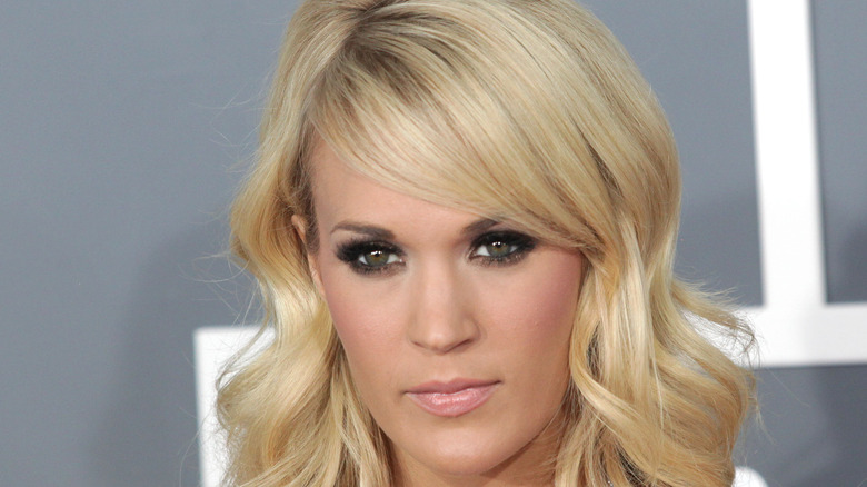 Carrie Underwood staring intensely