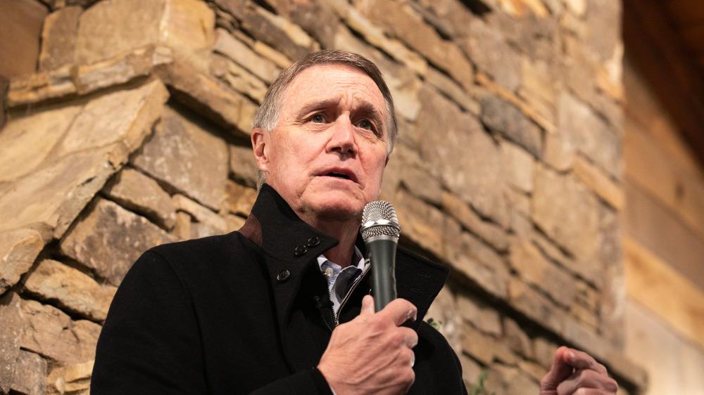 David Perdue making a campaign speech