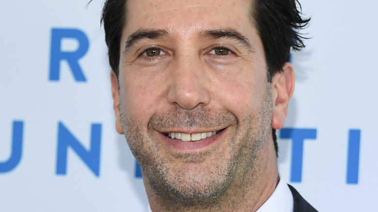 David Schwimmer smiling at event