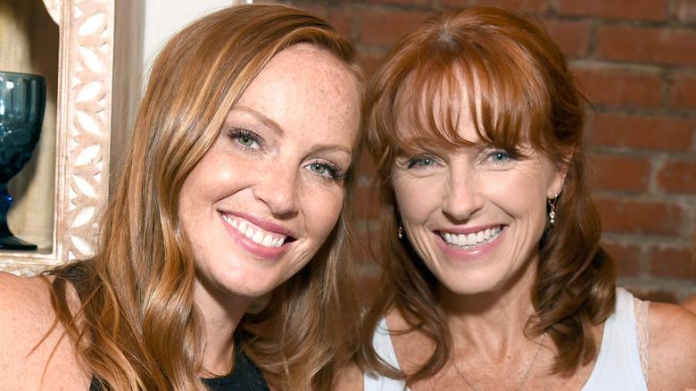 Mina Starsiak and Karen Laine smiling together