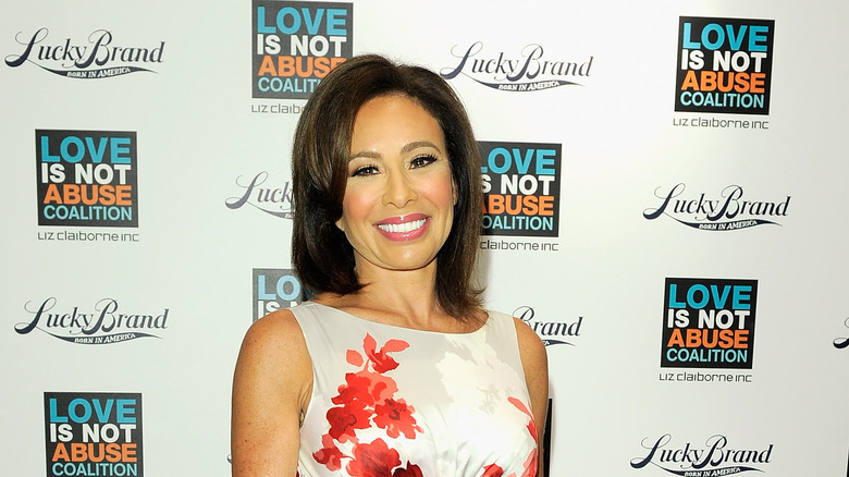 Judge Jeanine Pirro poses on the red carpet